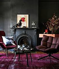 Black Paint For Fireplace Interior Trend Scout Inky Interiors And Black Walls Black Painted Walls