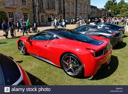 chrome ferrari 458 a red ferrari 458 italia supercar at the wilton classic and