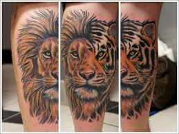lion finger tattoos calf tattoos picture list of calf tattoo designs