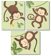 Monkey Decor For Nursery Monkey Prints For Nursery Monkeys Wall Nursery Wall Decor