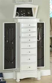 free standing jewellery armoire uk floor standing jewelry boxes white floor standing jewelry box with