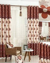 faux linen fabric floral pattern thick insulated bedroom curtains