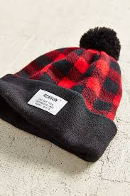 Woodsman Supply Reason Woodsman Plaid Pompom Hat In Black Lyst