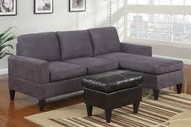 Suede Sectional Sofas Small Grey Microfiber Suede Sectional Sofa With Ottoman Lowest