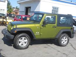2007 green jeep wrangler 2007 jeep wrangler 4x4 x 2dr suv in hton nh price auto sales