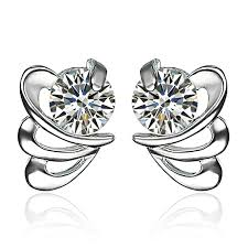 ruoye fashion earring for purple white silver