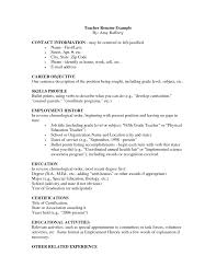 Examples Of Resumes Resume Template Job Objective Statement by Objective For Teaching Resumes Botbuzz Co