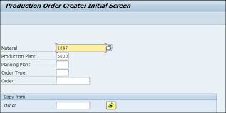 sap production order table sap pp production orders