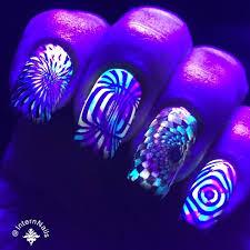 black light illusion nails nail art gallery