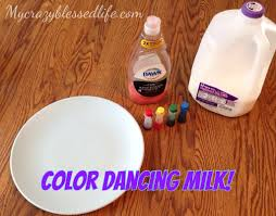 dancing colors milk experiment my crazy blessed life
