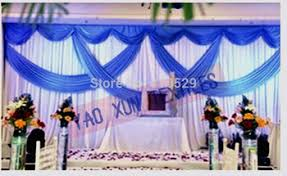 Wedding Backdrops For Sale Buy 3m 6m Royal Blue Swags Sale White Wedding Backdrop Stage