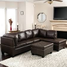 venezia leather sectional and ottoman leather sectional with ottoman round brown metropolitan and