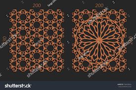 laser cutting set woodcut vector trellis stock vector 734626654