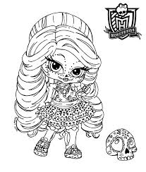 Monster High Chibi Coloring Pages | chibi monster high coloring pages download and print for free