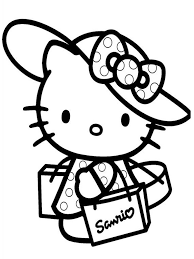 hello kitty home shopping coloring pages for kids fmp printable