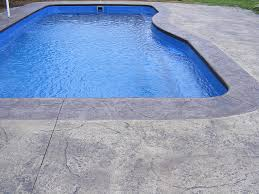 How Much Is A Stamped Concrete Patio by Stamped Vs Brushed Broomed Concrete For Swimming Pools Which Is