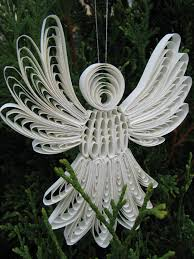paper quilled christmas angel quilling pinterest quilling