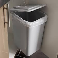 poubelle de cuisine manuelle frandis plastique gris 23 l leroy merlin