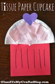 tissue paper cupcake kid craft cupcakes kids paper cupcake