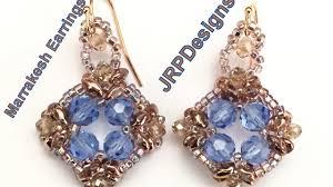 beginner earrings marrakesh earrings beginner left tutorial