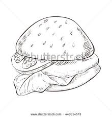 burger sketch stock images royalty free images u0026 vectors