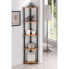 Corner Bookcase Cherry Furinno 5 Tier Bookcase Corner Shelf With Light Cherry Finish