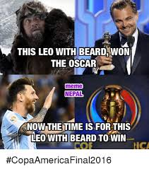 Memes Oscar - this leo with beard won the oscar meme nepal know the time is