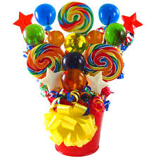 balloon and candy bouquets candy themed centerpieces bouquet