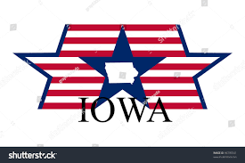 Iowa State Map Iowa State Map Flag Name Stock Vector 96795541 Shutterstock