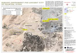 Palmyra Syria Map by Damage Assessment For Ancient City Of Palmyra Syria Unitar