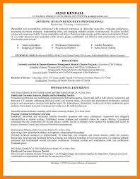 Entry Level Hr Resume Examples by Human Resources Resume Sample Objective