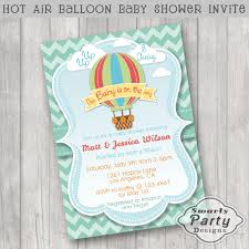 colorful air balloon baby shower invitations invite printable
