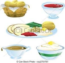 thanksgiving dinner icons illustrations of different clipart