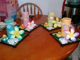 luau baby shower candle centerpieces my creations pinterest