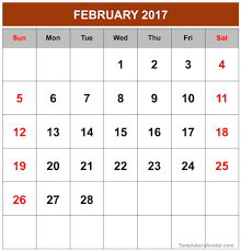 february 2017 calendar printable and monthly pdf word excel