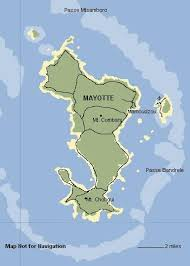 map comoros map of mayotte comoros islands not for navigation
