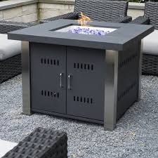 Stainless Steel Firepit Pleasant Hearth Montreal Stainless Steel Propane Pit Table