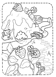 strawberry coloring pictures kids coloring