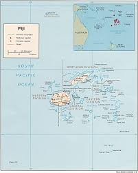 Map Of The South Map Of The Fijian Islands In The South Pacific Travel Maps