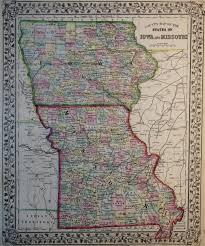 Map Missouri Map Of Iowa And Missouri 1869
