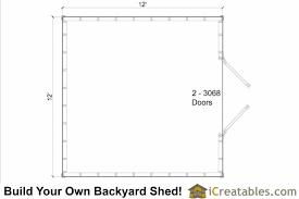 Storage Building Floor Plans 12x12 Shed Plans Gable Shed Storage Shed Plans Icreatables Com