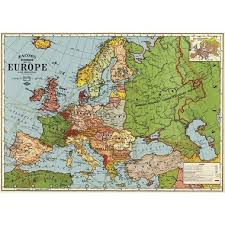 cavallini wrap cavallini europe map 3 wrapping paper paper source