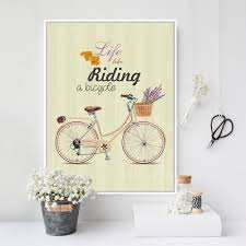 Retro Living Room Art Online Get Cheap Vintage Bicycle Art Aliexpress Com Alibaba Group