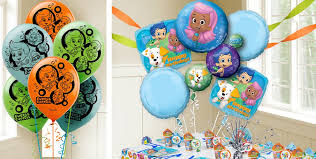 Bubble Guppies Birthday Decorations Bubble Guppies Balloons Party City