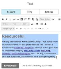 Long As I Can See The Light Chords Use Text Content Blocks Mailchimp