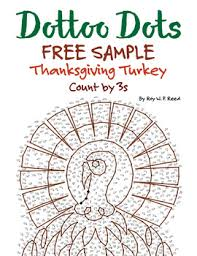 skip count by 3 thanksgiving turkey free dot to dot by mister reed
