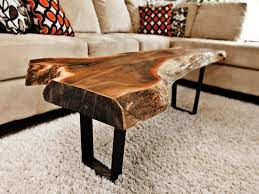 captivating tree log coffee table also small home decoration ideas