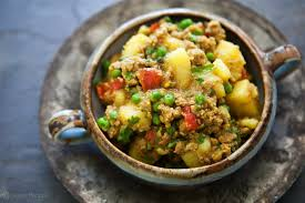 thanksgiving dinner vegetable recipes curried ground turkey with potatoes recipe simplyrecipes com