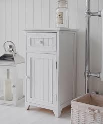 Freestanding Bathroom Furniture White A Crisp White Freestanding Bathroom Storage Furniture A Narrow