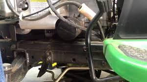 how to change oil on a john deere tractor with a briggs and